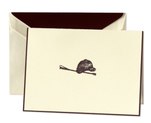 Equestrian Hat and Crop Note Card