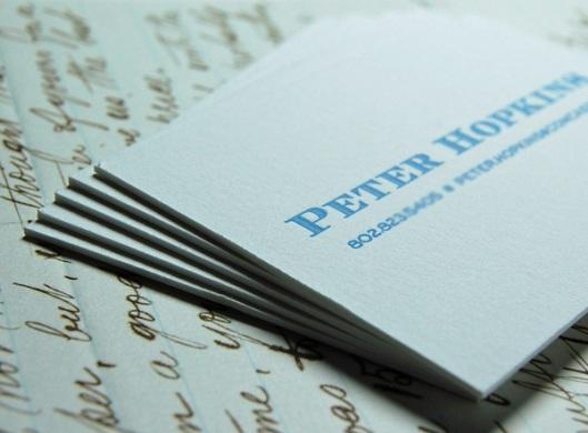letterpress calling card