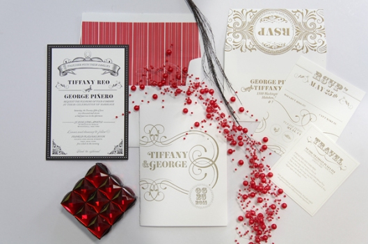 The Pink Orange Wedding Invitation Suite