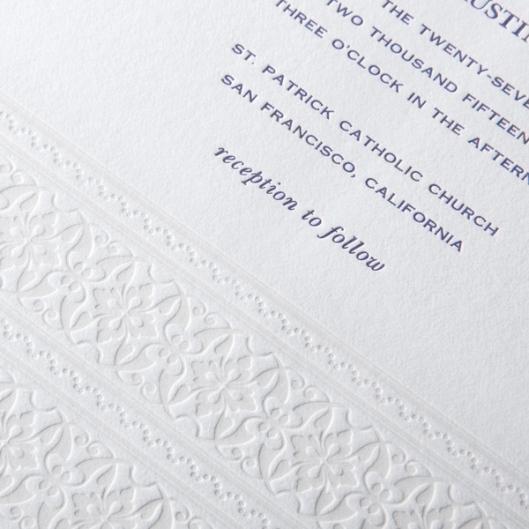 Wedding Invitation Etiquette 101 – Embossed Wedding Invitations