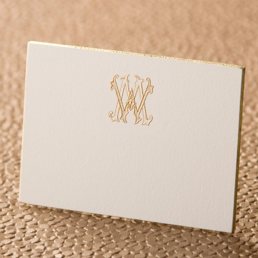 Gold Beveled Wedding Invitation Response Card
