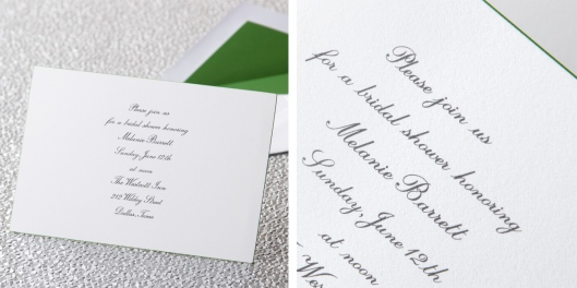 kate spade new york kelly green edge invitation