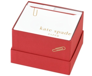kate spade new york paper clip note cards