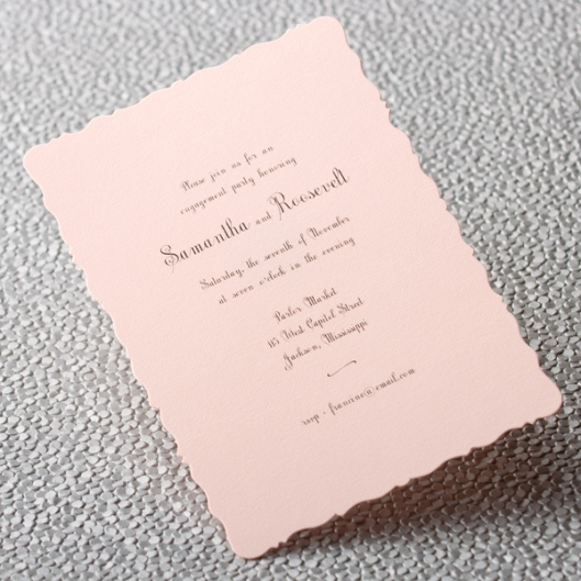 pink scalloped invitation