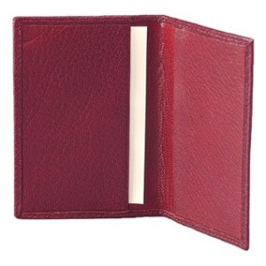 Red business card holder