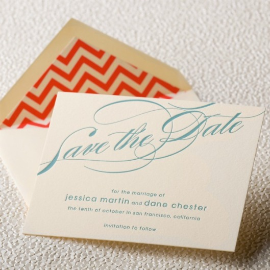 chevron envelope liner save the date