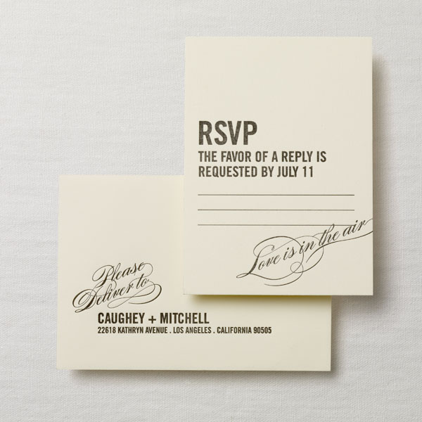 Letterpress wedding invitation a registry card but this