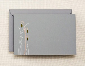Engraved Carrie Crane Moonlight Meadow Correspondence Card