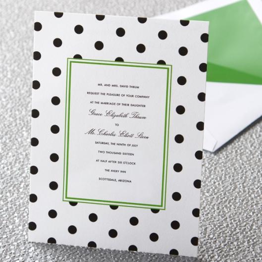 kate spade new york dots invitation