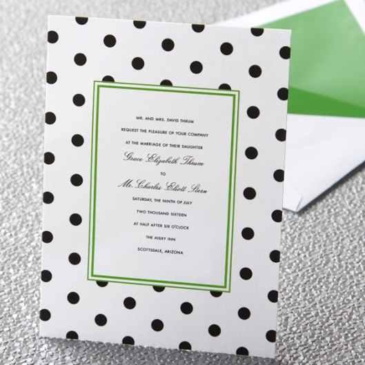 kate spade new york dots invitation