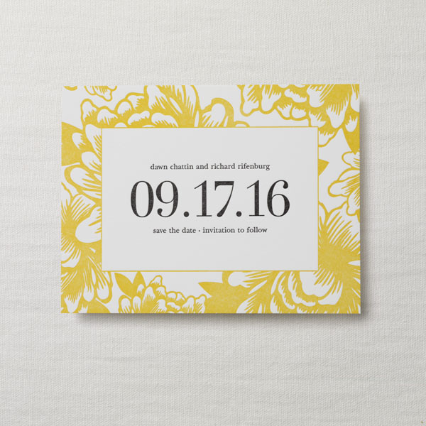 Holly Golightly Letterpress Wedding Save the Date Wallis Princess of Public