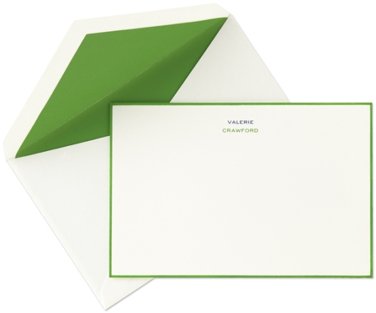 spring green hand bordered personalized notes