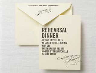 rehearsal dinner wedding invitation