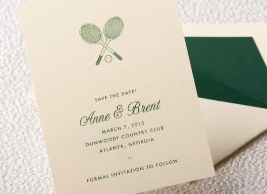 Tennis Save the Date Cards