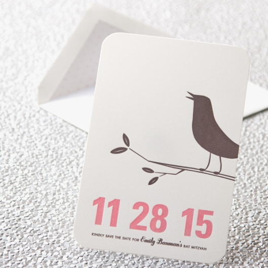 spring fling letterpress save the date card