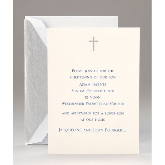 personalized christening invitation