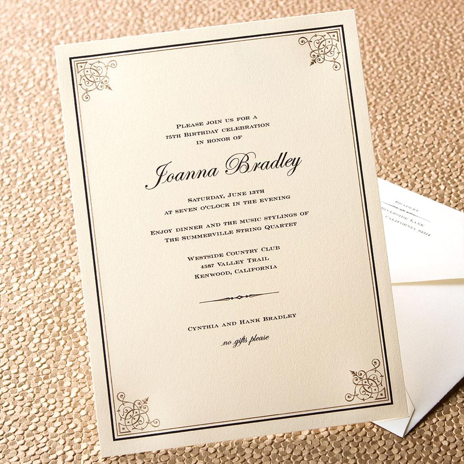 Formal Invitation Wording