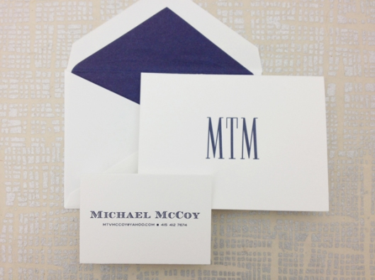 masculine personalized stationery