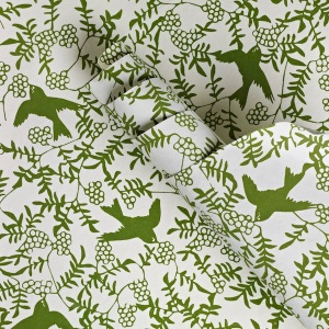 Crane & Co. green birds envelope liner sheets