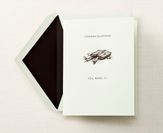 engraved congratulations graduation greeting card