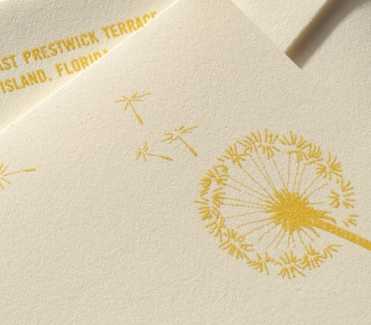Ecru Heavyweight Dandelion Note Card