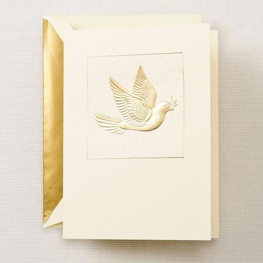 dove peace holiday greeting card
