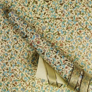 Crane & Co. floral gold, blue and green envelope liner sheets
