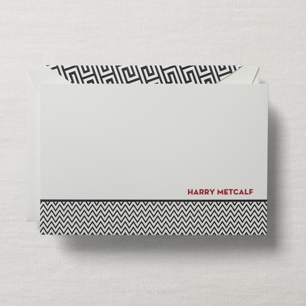 crane personalized card houndstooth