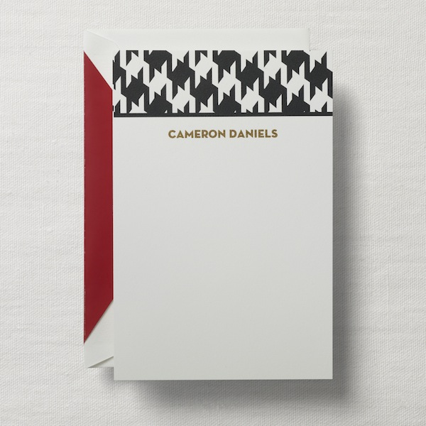 personalized note houndstooth