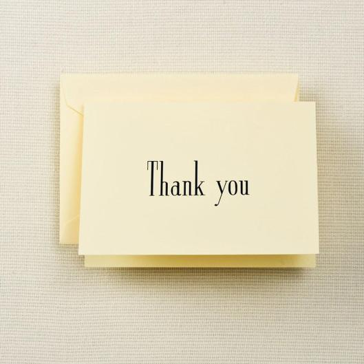 crane & co. thank you notes