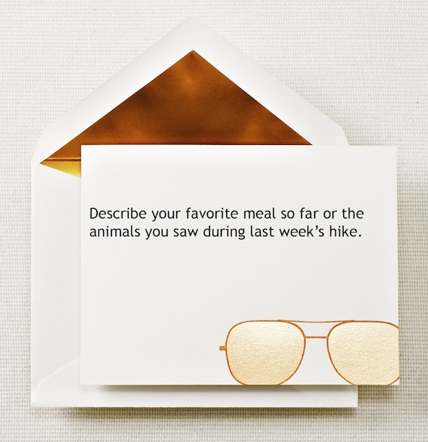 aviator glasses note card