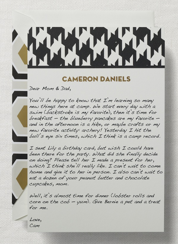 personalized houndstooth card