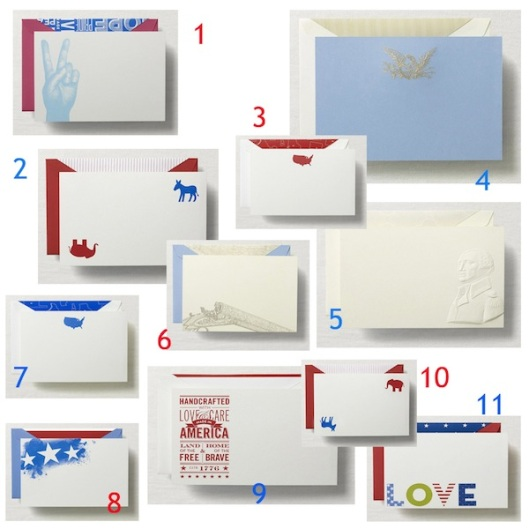 americana stationery cards collection