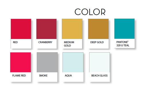 singnature stationery collection colors