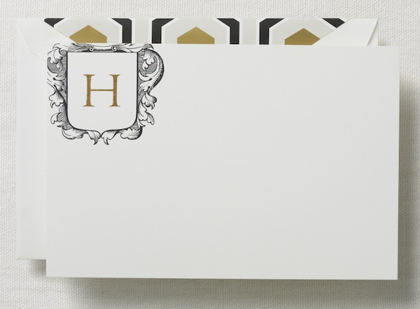 crane style now herald monogram personalized card