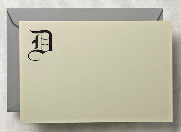 D Initial Card