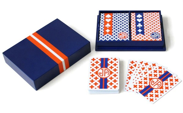 jonathan adler blue playing cards