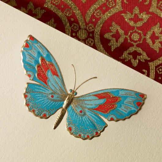 signature stationery butterfly note card