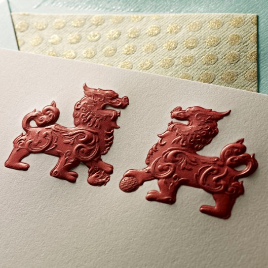 signature stationery foo dogs