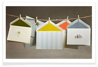 summer stationery note cards