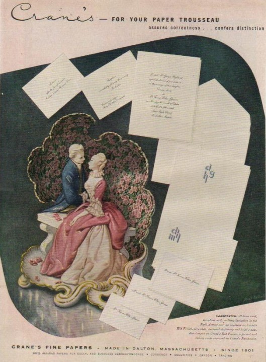 vintage wedding stationery advertisement