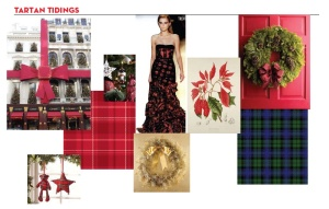 plaid red and green photo card inspiration