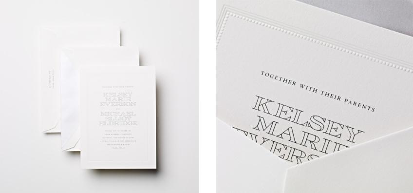 modern wedding invitation with decorative frame