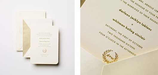 engraved wedding invitation
