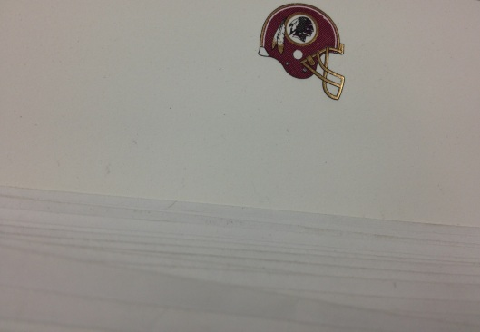 engraved redskins card