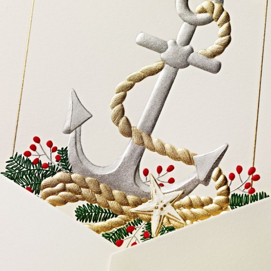 engraved anchor greeting card