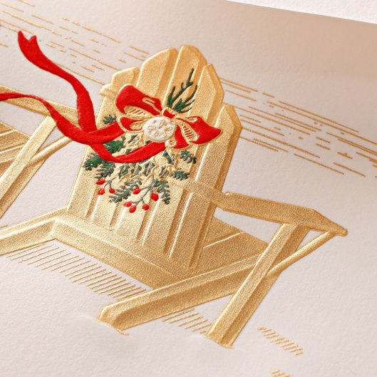 engraved holiday adirondacks cards