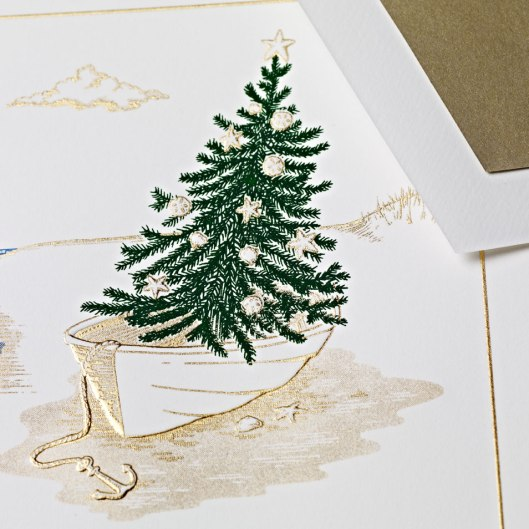 engraved seaside holiday card