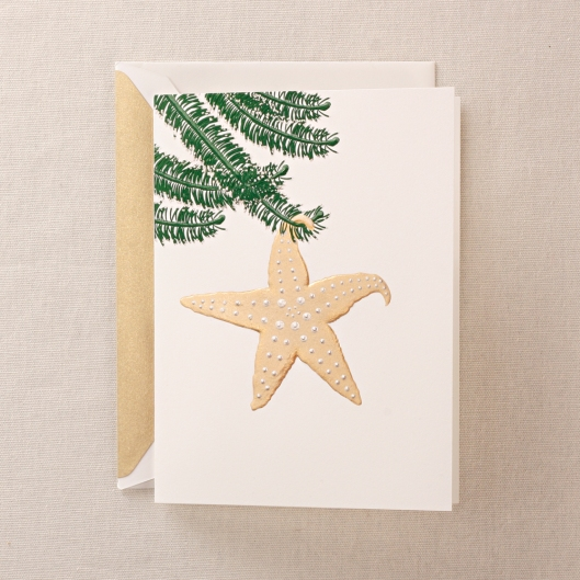 Hand Engraved Starfish Greeting Card