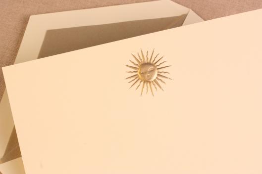 engraved soleil card